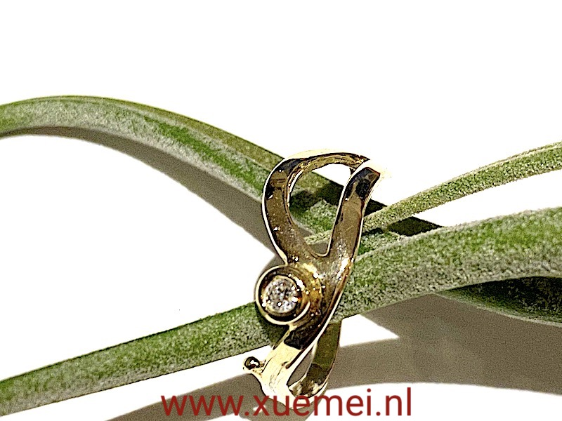verlovingsring - diamant ring - edelsmid Xuemei Dijkstal - Delft