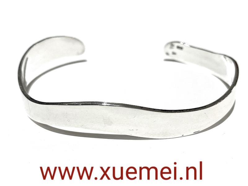 Zilveren armband - uniek - heren - vrouw - edelsmid Xuemei Dijkstal -