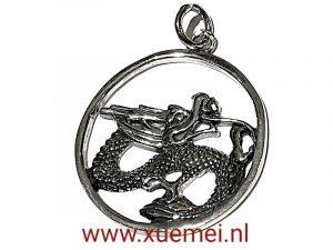 exclusieve zilveren draak hanger - juwelier delft
