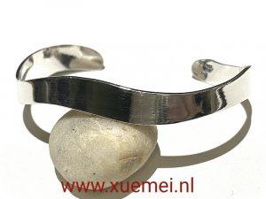 zilveren armband - golven - uniek - heren - vrouw - edelsmid Xuemei Dijkstal