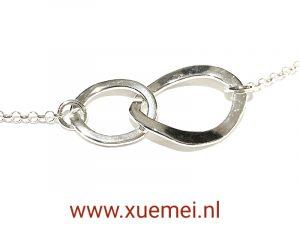 Zilveren ketting - altijd - zilversmid Xuemei Dijkstal - uniek