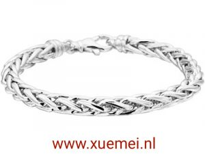 exclusieve zilveren armband vossestaart - Xue Mei - juwelier en edelsmid Delft