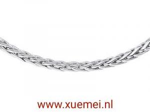 exclusieve zilveren ketting vossestaart - Xue Mei - juwelier en edelsmid Delft