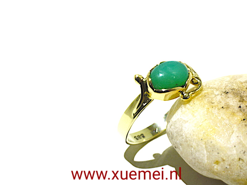 verlovingsring-goudsmid-Delft-Chrysopraas