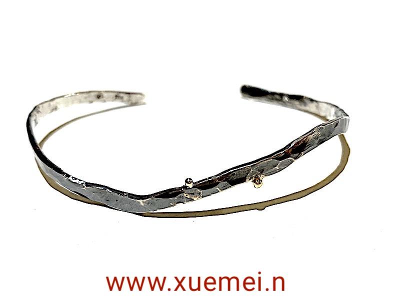 zilveren armband handgemaakt - edelsmid Xuemei Dijkstal - uniek - zwart