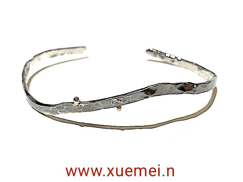 zwarte zilveren armband - uniek - handgemaakt - edelsmid Xuemei Dijkstal
